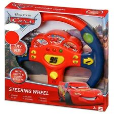 Disney Cars Steering Wheel Kids Electronic Lightning McQueen Toy Lights Sounds