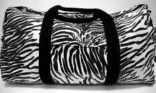 Duffle Bag Sequin ZEBRA  Bling Women Gym Sport Travel Diaper Girls Cheer Luggage