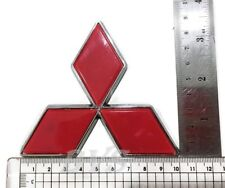 RED LANCER PAJERO SHOGUN COLT EMBLEMS BADGE DECALS PLATE STICKER FOR MITSUBISHI