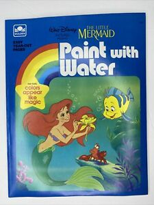 The Little Mermaid Goden Books Paint With Water Vintage Coloring Book 80s 90s