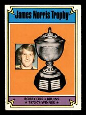 BOBBY ORR JAMES NORRIS TROPHY 74-75 O-PEE-CHEE 1974-75 NO 248 EX+EXMINT 16647