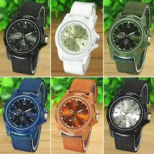 Men's Fashion Military Army Style Band Sports Analog Quartz Wrist Watch Refined