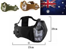 Mesh & Padded Mask For Gel Ball Blaster Gun Face Masks Covers Ears Breathable AU