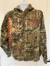Russell Outdoors Mens Size Xl Multicolor Vintage Mossy Oak Hooded Sweatshirt