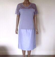 JACQUES VERT - Light Blue, Fine Knit Top & Tailored Slub Skirt BNWT UK 16/18