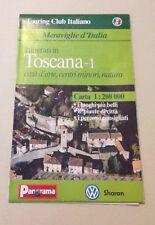 D24> Carta stradale Touring Club Italiano - Itinerari Toscana -1 - 1997