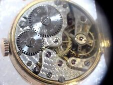 VINTAGE 9CT GOLD WATCH AND BAND 15 JEWEL SWISS MOVEMENT MARVIN