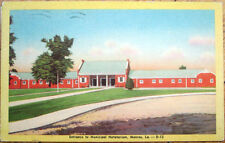 1948 Monroe, Louisiana Linen Postcard: Municipal Natatorium - LA