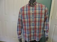 Mens Brooks Brothers 346 The Original Polo Shirt Long Sleeve Button Front Sz L