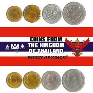 Set 4 Coins Thailand 25 50 Satang 1 5 Baht 1977 - 1980