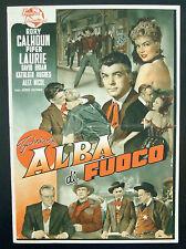 CINEMA-fotobusta ALBA DI FUOCO calhoun, laurie,GEORGE SHERMAN