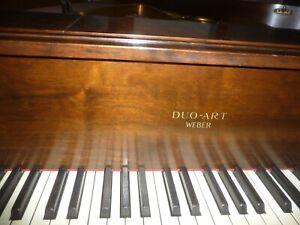 "Weber Duo-Art Grand Reproducing Player Piano Beautiful walnut 5'8"" Style WR"