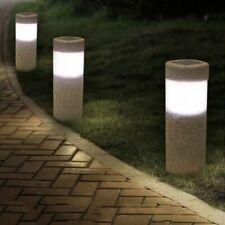 Sand-blasting Solar Lawn Light Waterproof LED Outdoor Garden Landscape Yard Lamp