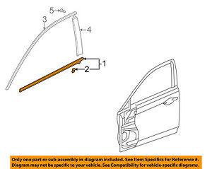 72450TL0003 Acura OEM TSX-Door Window Sweep-Belt Molding Weatherstrip Left