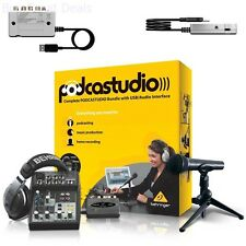 Podcastudio USB Recording Audio Interface High Quality Musical Complete Bundle
