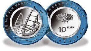 10 Euro BRD - Serie Luft bewegt  -  2019 - 2020 - 2021 ST - alle Prägestätten