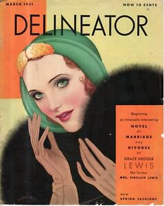 1931 Delineator March-Art Deco; Are Husbands necessary? Wages for Wives; Model A