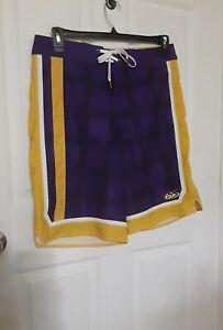 "Nike 6.0 Swim/Surf Board Shorts L.A Lakers ""Kobe"" Style Purple/Gold Size 32 Med"