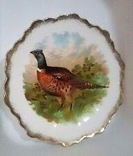 VTG Punch ZS & Co Bavaria Porcelain China Pheasant Plate Game Birds 1880's