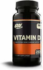 Optimum Nutrition VITAMIN D (5000iu) 200 Softgels
