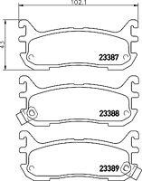 Mintex Rear Brake Pad Set MDB1705  - BRAND NEW - GENUINE - 5 YEAR WARRANTY