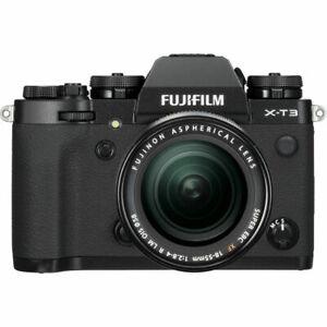 A - Fujifilm X-T3 Digital Mirrorless Camera with 18-55mm XF Lens - Black