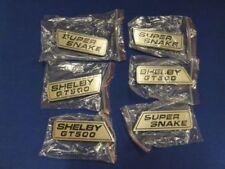 2007 - 2014 SHELBY GT500 SUPER SNAKE COMPLETE EMBLEM WING SET RARE
