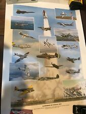 1991 GATHERING OF THE EAGLES LITHOGRAPH SIGNED BY THE AVIATORS W/ BOOK