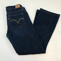 Levi's 524 Too Super Low Denim Jeans Womens 9M Blue 5-Pocket Straight Leg Casual