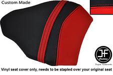 Rojo y Negro personalizado de vinilo cabe DUCATI 848 1098 1198 Trasero Pillion Cubierta de asiento solamente