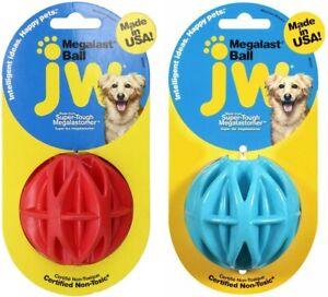 JW Pet Megalast Ball Dog Toy, Medium, Assorted colors ( 2-Pack )