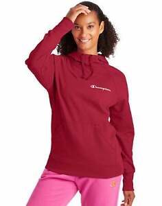 Champion Women's Powerblend Hoodie Sweatshirt Script Logo Athletics Scuba Hood