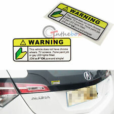 2PC WARNING JDM as f ck decals JDM Japan drift race Car funny novelty stickers