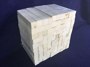 "Holly American lumber wood turning squares pen blanks - * 100 PCS * - 5/8"" sqr"