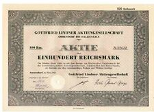 Gottfried LINDNER AG 1942 Ammendorf Halle/Saale