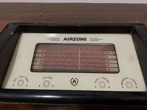 Airzone 1940s valve radio. Wireless. Working. Wooden cabinet antique