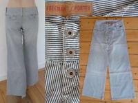 Freeman T. Porter Ftp Jeans Schlaghose Maritim Blau Weiss gestreift Gr 26 NEU