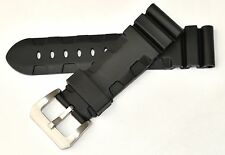 24mm Premium Rubber Diver Band Strap w/ 316L Stainless Steel Buckle for PANERAI