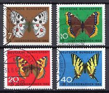 Germany - 1962 Youth welfare: Butterflies Mi. 376-79 FU