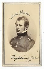 Antique CIVIL WAR GENERAL JOSEPH HOOKER Union Soldier CDV Military Photograph