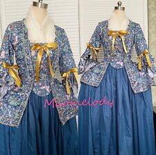 18th Century Caraco Jacket Dress Cosplay Costume Cotton L