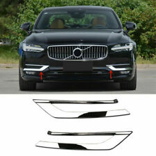 For Volvo S90 2017- 2019 Abs Chrome Front Fog Light Lower Bumper Cover Trim 2pcs (Fits: Volvo)