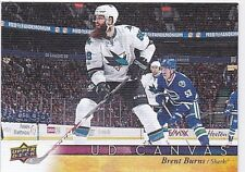 Brent Burns 2017-18 Upper PONT , UD Canevas, cartes à collectionner