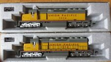 two Kato Union Pacific HO scale SD40 dc powered locomotives made in Japan