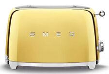 Smeg 50's Retro Style Aesthetic 2 Slice Toaster 950W Electric Gold New