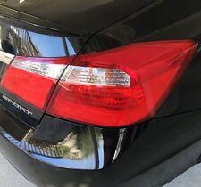 2013-2015 Honda Accord Sedan Tail Light Precut Red Vinyl Tint Overlay Redout Kit