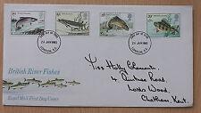 GB FDC BRITISH RIVER FISHES 1983  FC 36