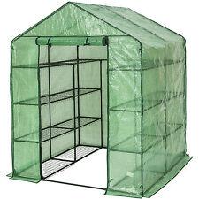 Invernadero de jardín con estante vivero casero plantas cultivos NUEVO