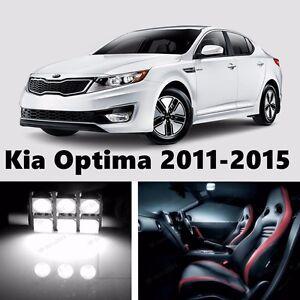 11pcs LED Xenon White Light Interior Package Kit for Kia Optima 2011-2015