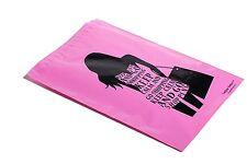 100 10x13 PINK GO SHOPPING Designer Mailers Poly Shipping Envelopes Boutique Bag